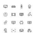 tv - flat icons vector image vector image