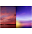 two blurred skies backgrounds vector image vector image