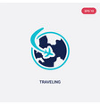 two color traveling icon from free time concept vector image