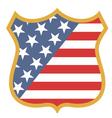 USA shield vector image vector image