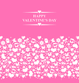 valentine el gorisontal pink vector image vector image