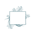 Vintage Lily Flower Frame vector image vector image