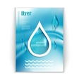with water drops booklet vector image vector image