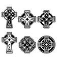 Irish Scottish Celtic cross on white sign vector image