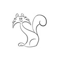vector cat silhouette isolated on white vector image