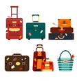set travel bags isolated on white background vector image