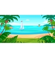 Holidays by the sea View of the islands and ship vector image