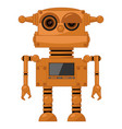 a steampunk robot on white isolated background vector image vector image