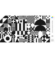 abstract bauhaus pattern minimal swiss background vector image vector image