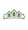 Abstract of country houses with horizon line vector image