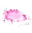 abstract pink shade watercolor splatter texture vector image vector image