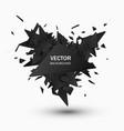 black explosion vector image vector image