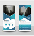 blue triangle business roll up banner flat vector image vector image