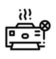 broken printer icon outline vector image vector image