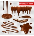 Chocolate transparent set vector image vector image