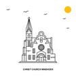 christ church windhoek monument world travel vector image vector image