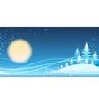 Christmas and new year festive blue theme vector image vector image