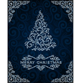 Christmas card with abstract pinetree vector image