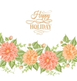 Chrysanthemum holiday card vector image vector image