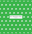 clover seamless pattern useful how st patricks vector image
