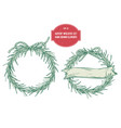 collection hand drawn advent wreaths vector image