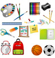 collection of education tools graphic vector image