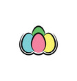 colorful eggs easter symbol logo icon element vector image