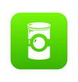 cosmetic jar plastic icon green vector image vector image