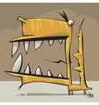 creature with big mouth vector image
