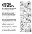 cryptocurrency poster bitcoins mining and online vector image vector image