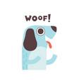 cute dog woofing funny cartoon pet animal making vector image vector image