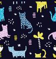 dark wild pattern vector image vector image