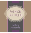 fashion boutique vector image vector image