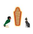flat egypt mythical symbols set vector image vector image
