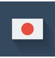 flat flag japan vector image vector image