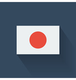 Flat flag of Japan vector image