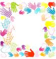 frame hands vector image