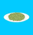 green lentil cereal in plate isolated healthy vector image