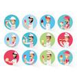 group of ice cream salesman vector image vector image