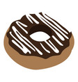 isolated chocolate donut vector image vector image