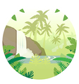 Jungle Flat Background16 vector image vector image
