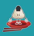 kawaii unagi nigiri oriental food japanese platter vector image vector image