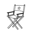 line short film director sit vector image vector image