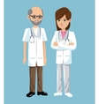 man and woman doctor practitioner medicine vector image vector image