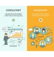 Management Consulting and Workshop Banners vector image vector image