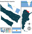 map of formosa province argentina vector image vector image