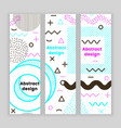 mempis banner set color vector image vector image