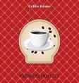 menu for coffee in vintage vector image vector image