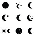moon icon set vector image vector image