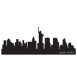 New york skyline detailed silhouette vector | Price: 1 Credit (USD $1)